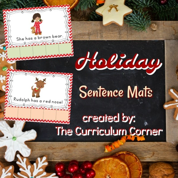 Christmas Sentence Mats