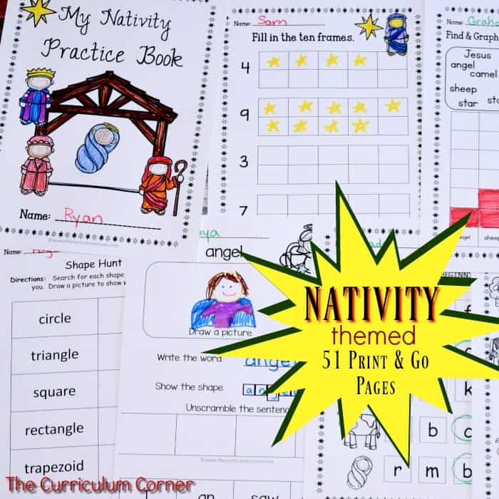 Nativity Themed Print & Go Pages
