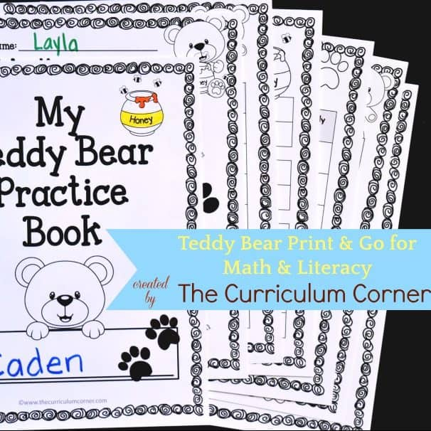 Teddy Bear Print & Go Pages
