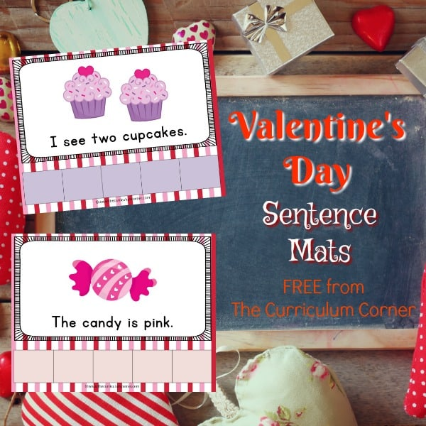 Valentine's Day Sentence Mats