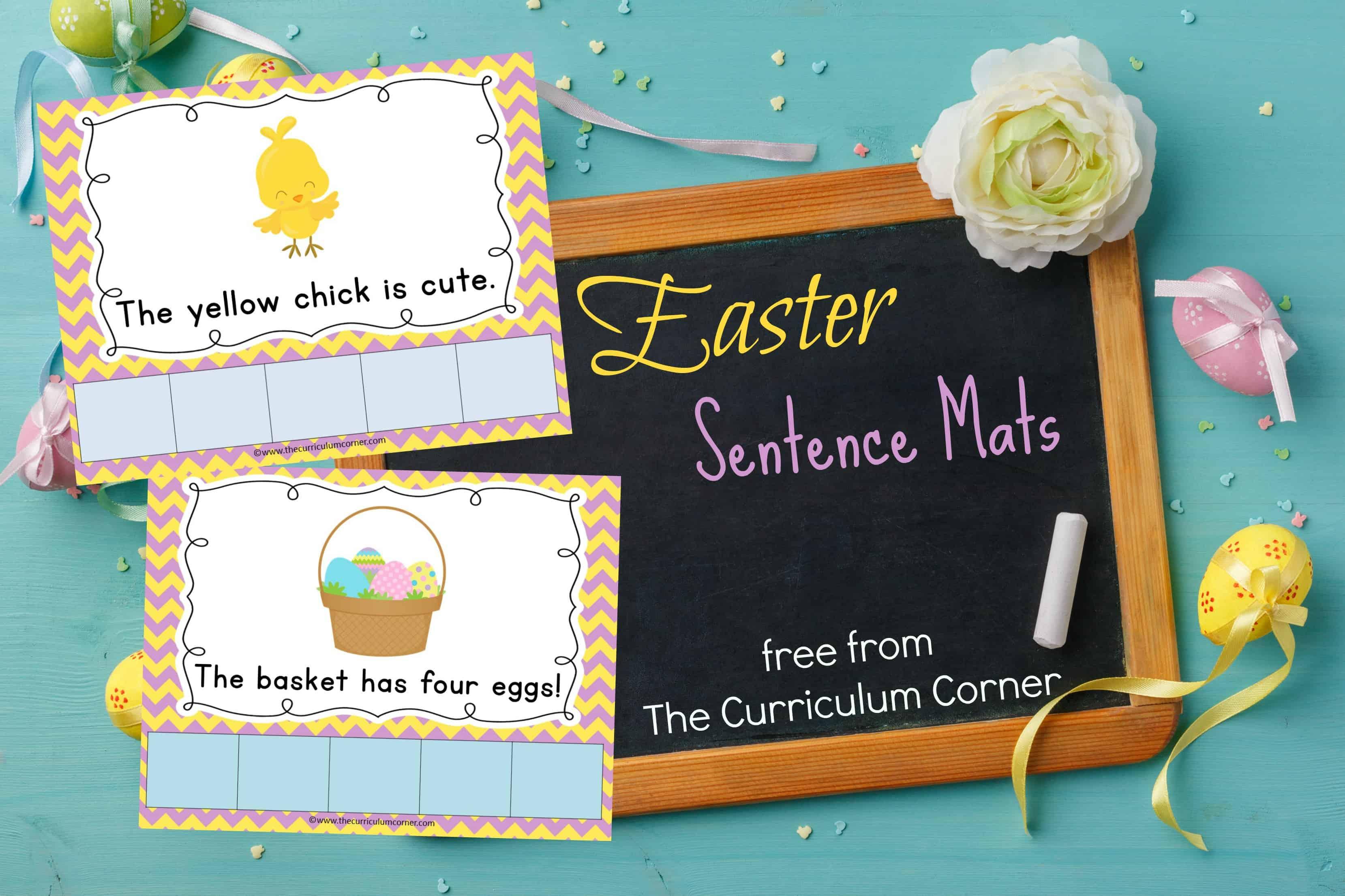 Easter Scrambled Sentence Mats