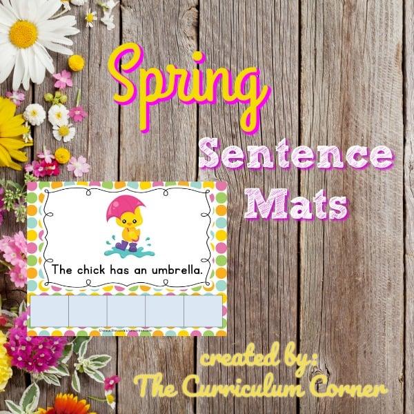 Spring Scrambled Sentence Mats