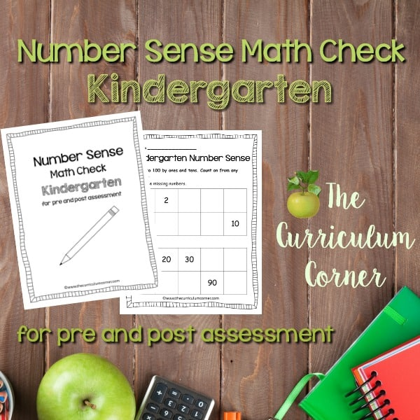 Math Check: Kindergarten Number Sense