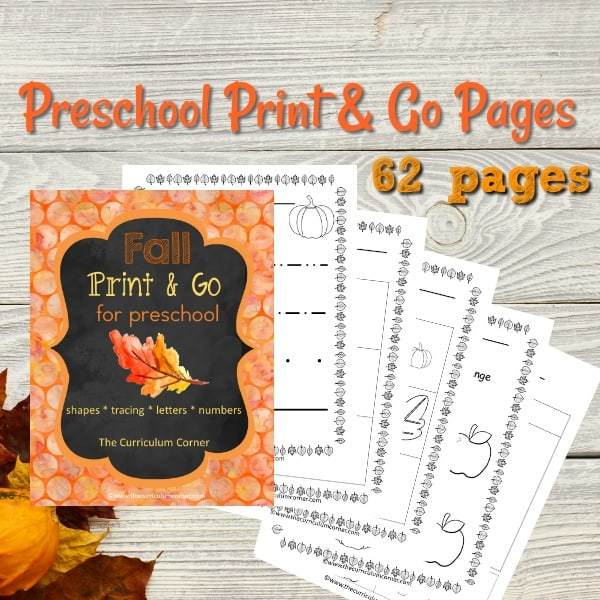 Fall Preschool Print & Go Pack