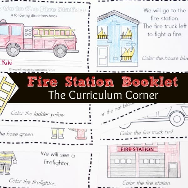 Firefighter Read & Color Book