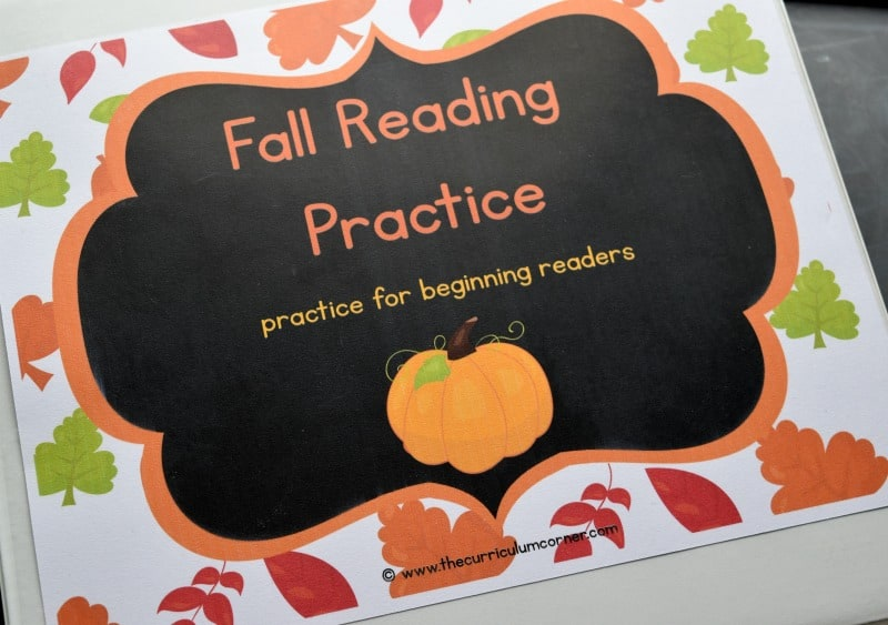 This fall reading binder is designed to help you create a quick and ready to go binder for your young readers.