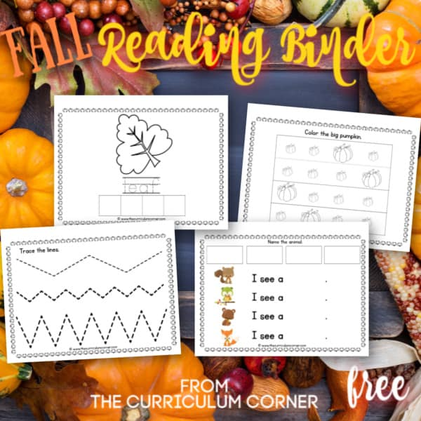 Fall Reading Binder