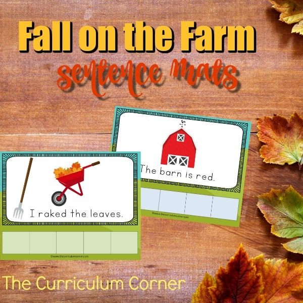 Fall Farm Sentence Mats