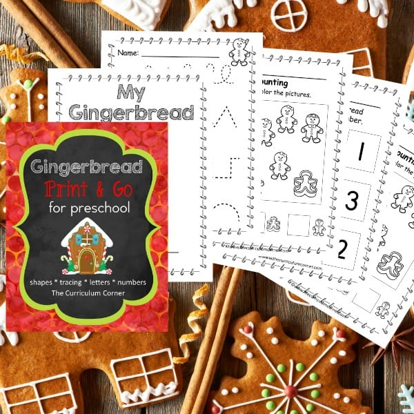 Gingerbread Preschool Print & Go