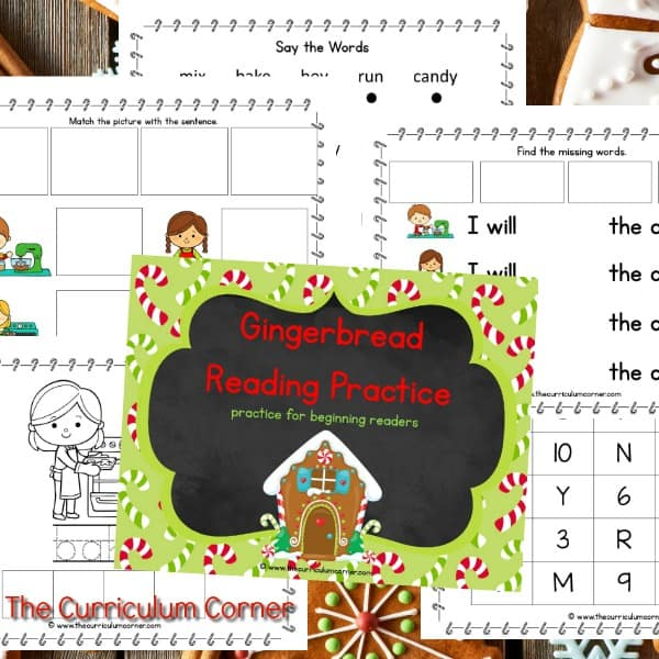 Gingerbread Reading Binder