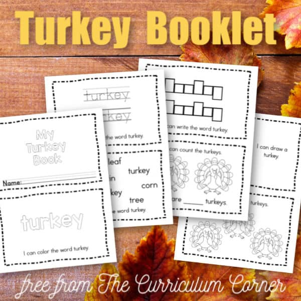 Simple Turkey Booklet
