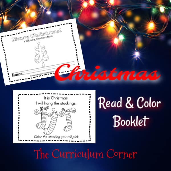 Christmas Read & Color Booklet