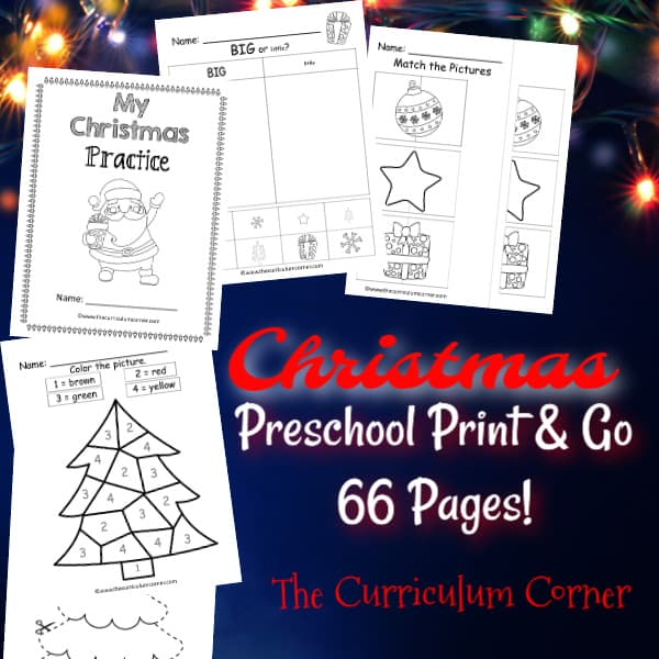 Christmas Preschool Print & Go
