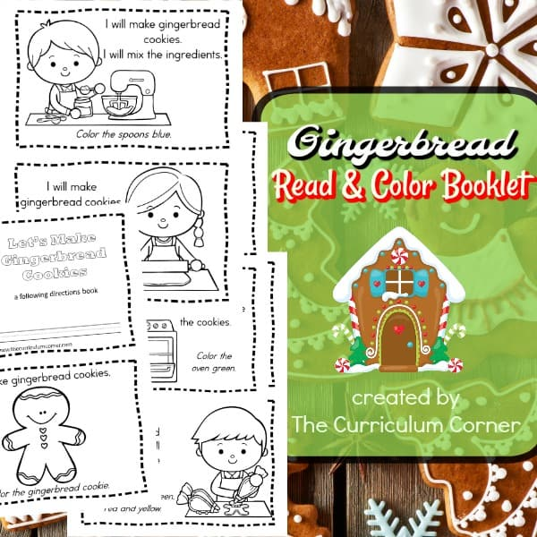 Gingerbread Read & Color Book
