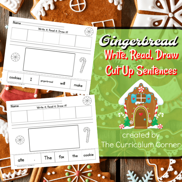 Gingerbread Write, Read, Draw