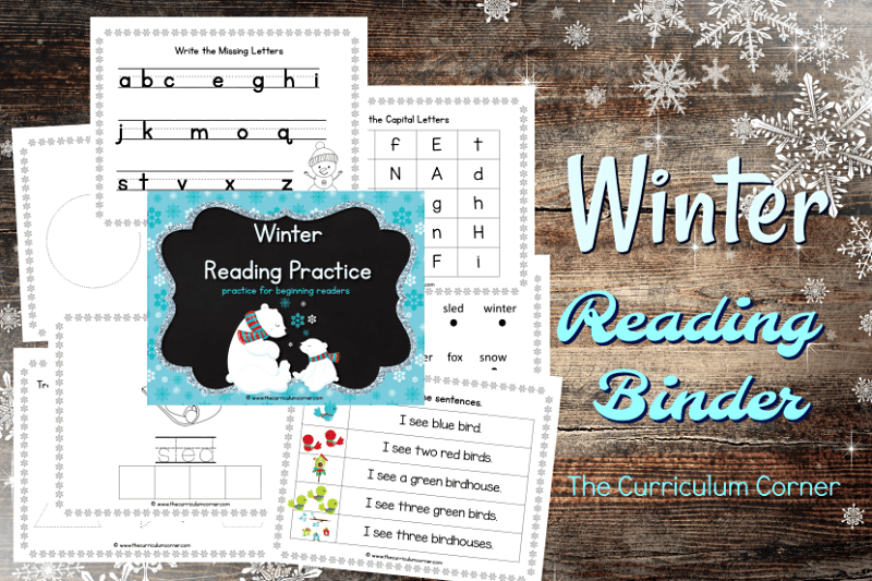 This winter reading binder is designed to help you create a quick and ready to go binder for your young readers.