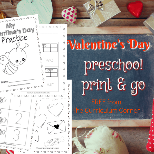 Valentine's Day Preschool Print & Go