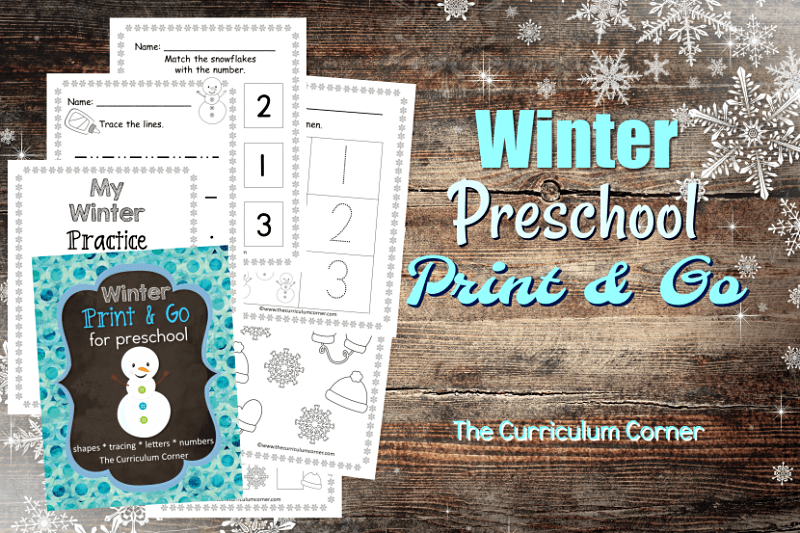 These free winter preschool pages are print and go pages designed to give your preschool and prekindergarten students seasonal practice.