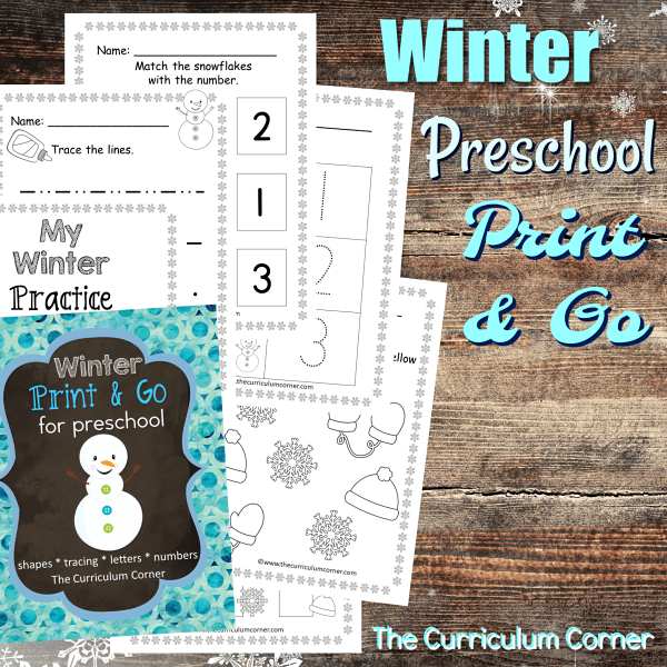 Winter Preschool Print & GO