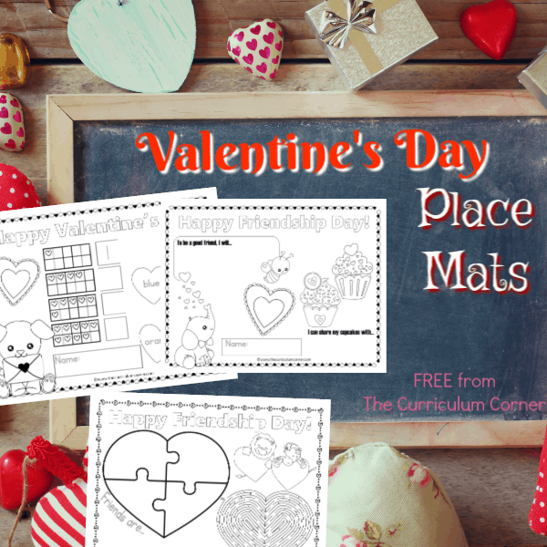 Valentine's Day Place Mats