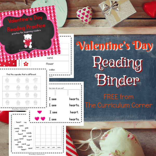 Valentine's Day Reading Binder