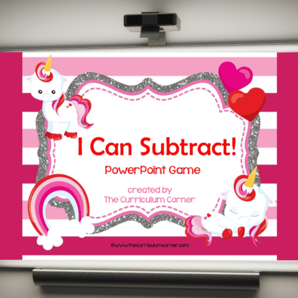 Valentine Subtraction Computer Game