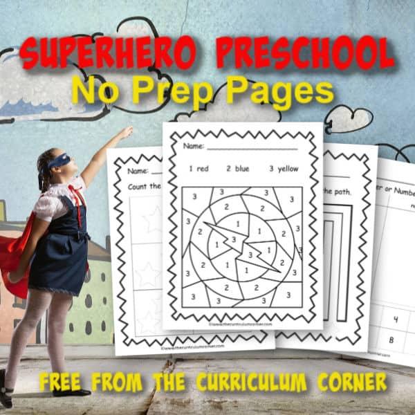 Superhero Preschool Print & Go