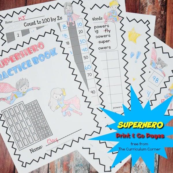 Superhero Print & Go Pages