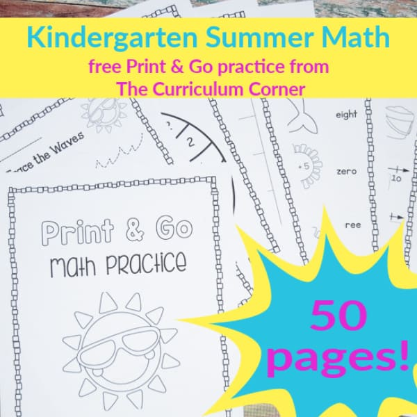 Kindergarten Summer Math Practice