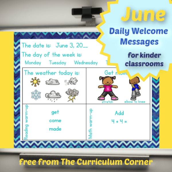 June Daily Welcome Messages