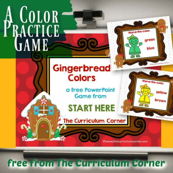 Gingerbread Colors PowerPoint Game