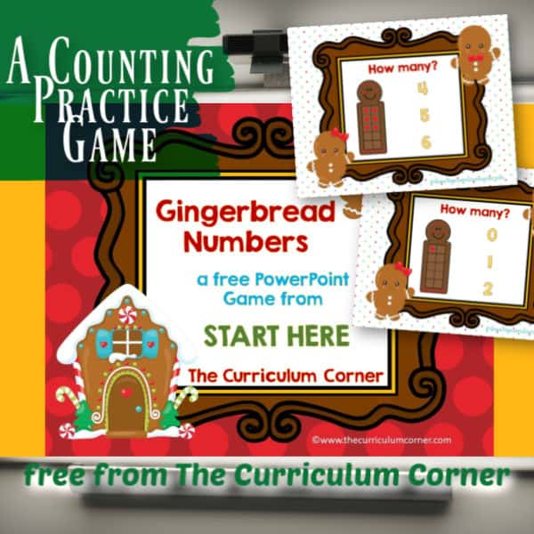 Gingerbread Counting PowerPoint Game