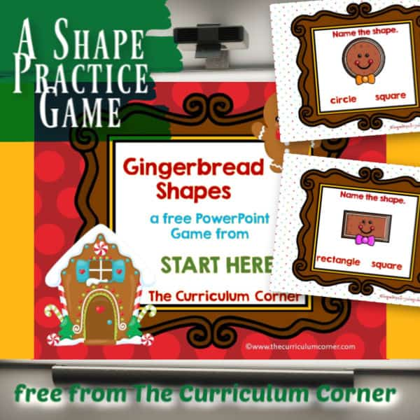 Gingerbread Shapes PowerPoint Game