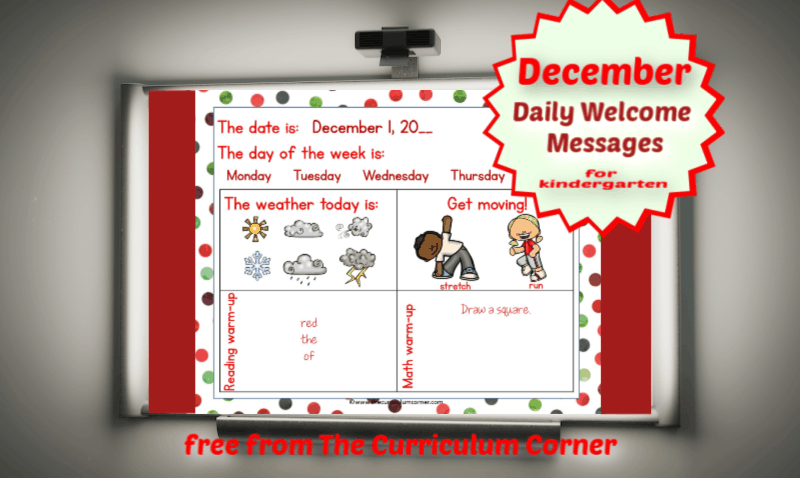 December Daily Welcome Messages