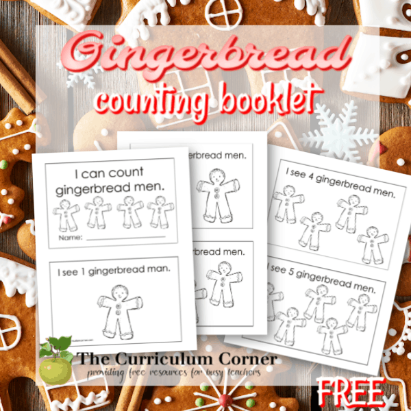 I Can Count Gingerbread Men Booklet