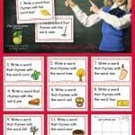 Rhyming Word Task Cards