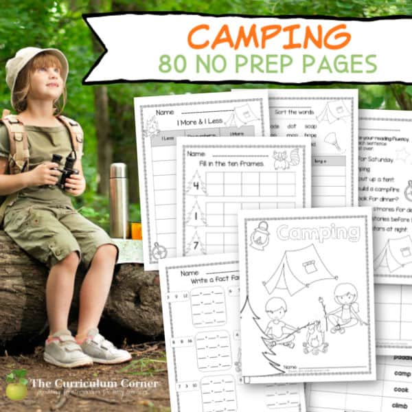 Camping No Prep Pages