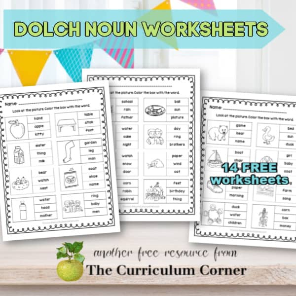 Dolch Noun Worksheets