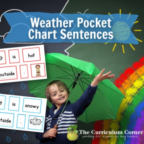 Weather Pocket Chart Sentences