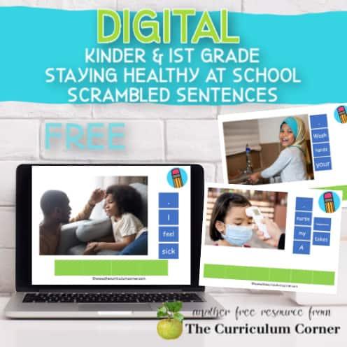 Digital: Staying Healthy at School Scrambled Sentences