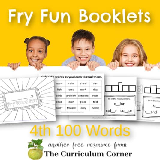 Fry Word Fun Booklets (4th Hundred)