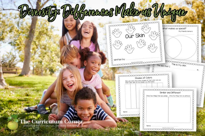Download these diversity activities for kindergarten to help explore the concept of differences in your early learning classroom.