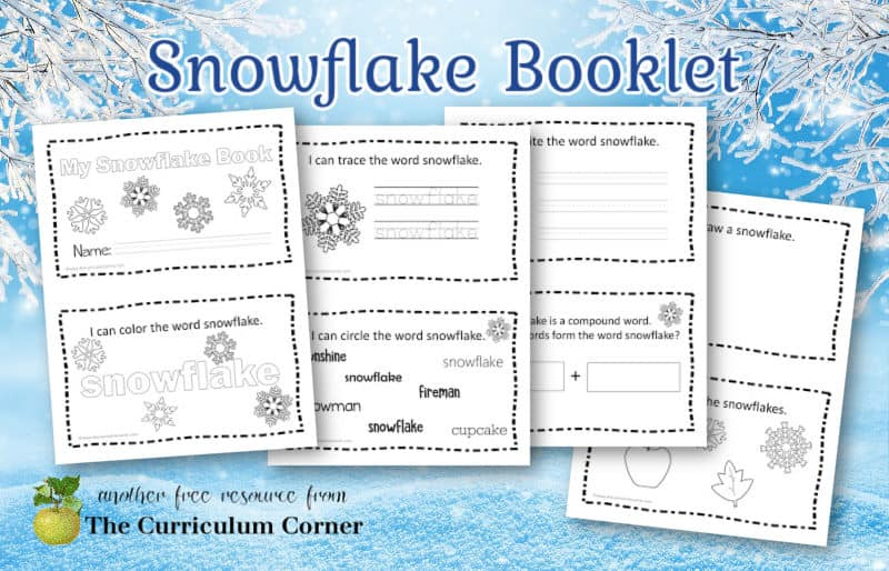 Download this free snowflake booklet for early readers to add to your winter collection in your classroom.