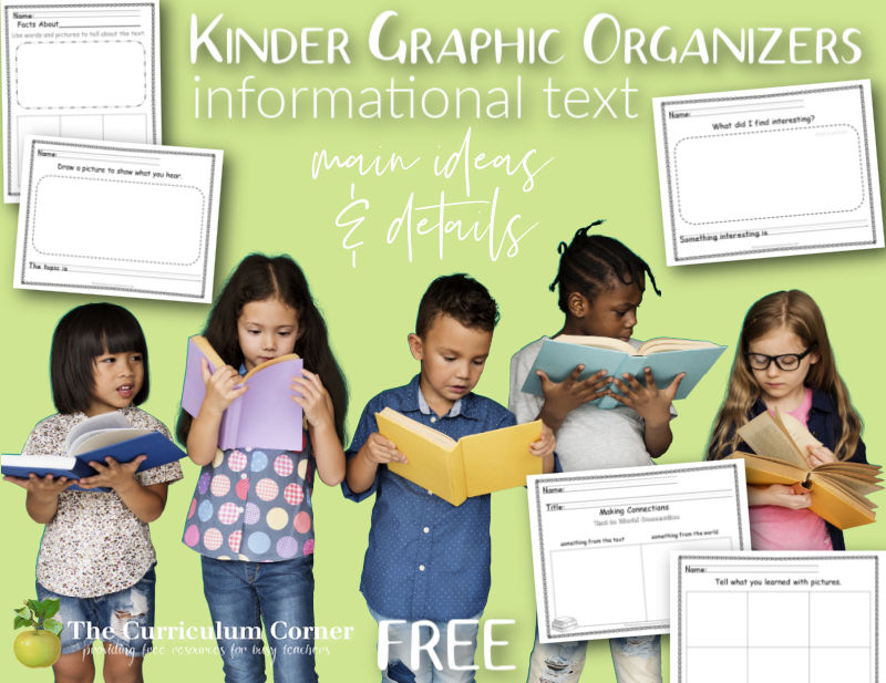 kindergarten Informational Text Graphic Organizers