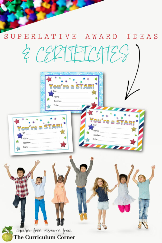 Use these superlative award ideas and certificates to help recognize your students as the school year ends.