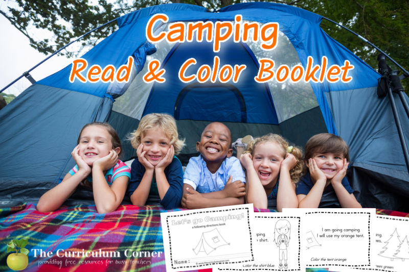 Add this camping reading booklet to your collection of little readers for your classroom.