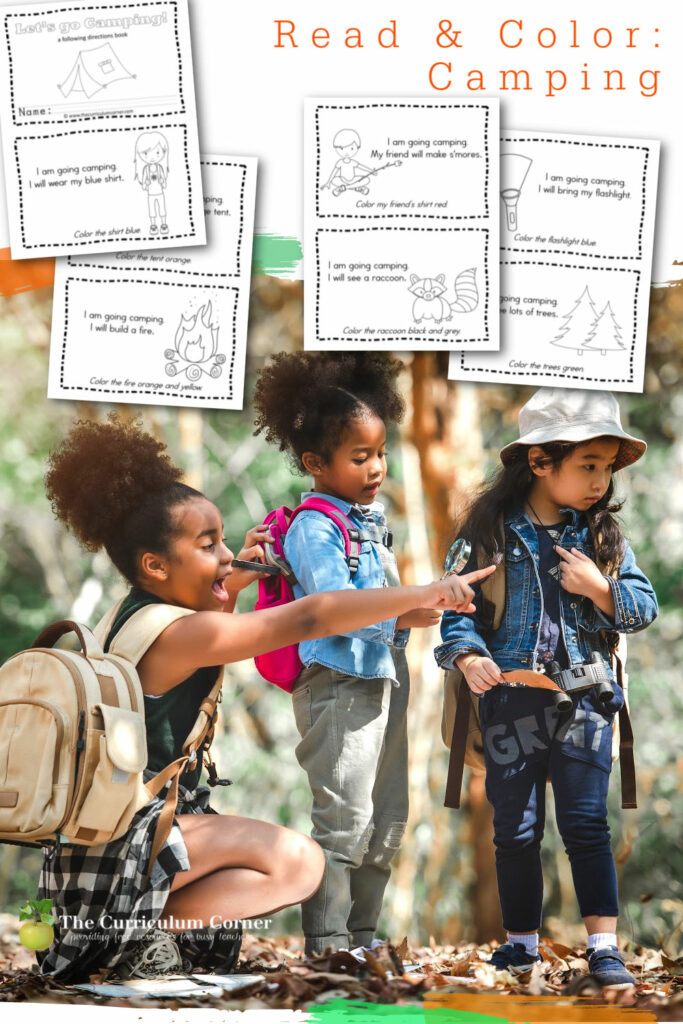 Add this camping reading booklet to your collection of little readers for your classroom. Free from The Curriculum Corner.