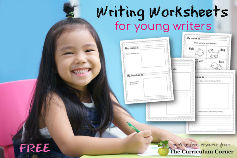 These free kindergarten writing worksheets will help your beginning kindergarten and first grade writers practice writing.