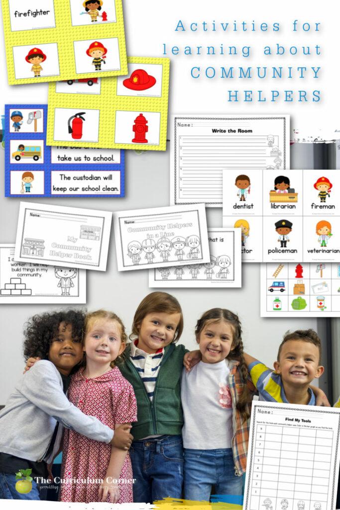 These free activities for community helpers are designed for your preschool, prekindergarten or kindergarten classroom.