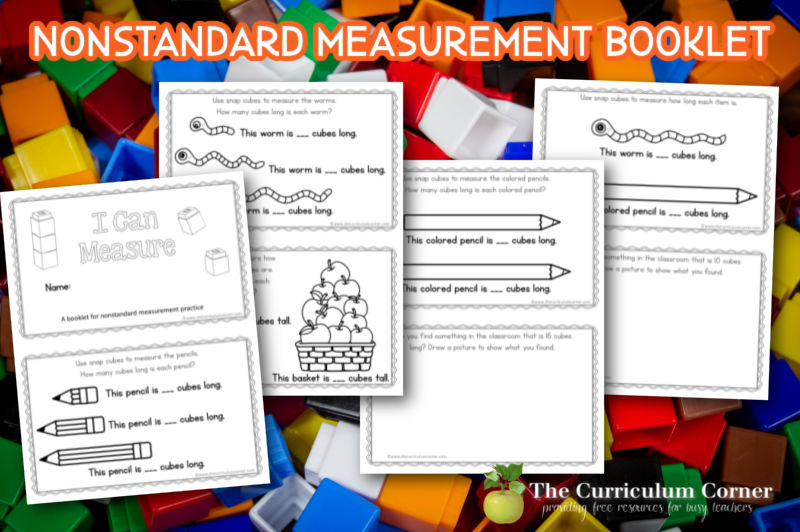 If you are ready to work on non standard measurement with your students, start with this simple booklet for practice.
